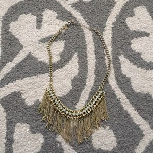 Banana republic chain tassel necklace